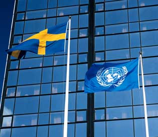 Since joining the United Nations in 1946, Sweden has been actively committed to its work and has become one of the UN's most generous contributors. Photo: www.imagebank.sweden.se © Bengt Ekeholt / Pix Gallery